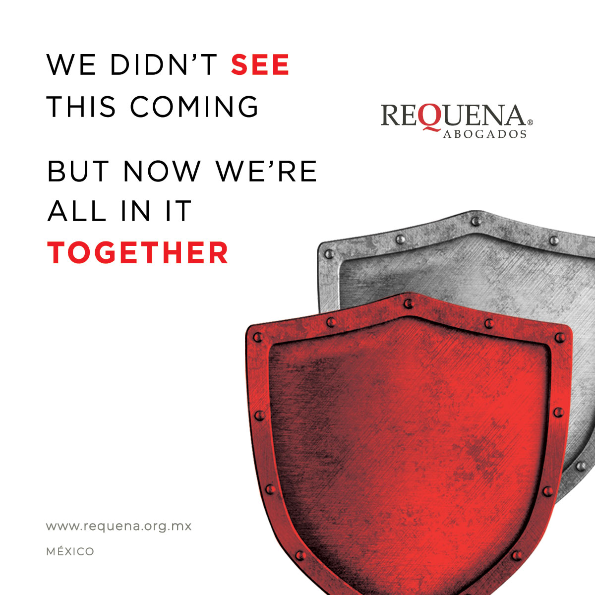 We didn't see this coming, but now we're all in it together | Covid-19 | Requena Abogados